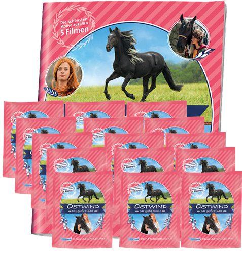Ostwind Das große Finale Sticker - Sammelalbum + 15x Stickertüten