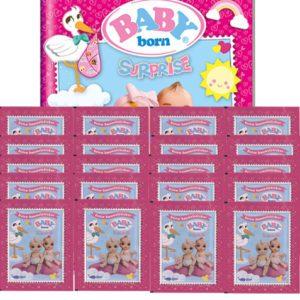 Baby Born Surprise Sticker - Sammelalbum + 20 Tüten
