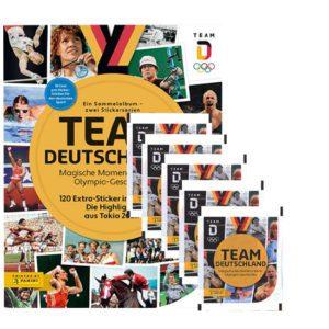Panini Team Deutschland 2021 Sticker - 1x Sammelalbum + 5x Stickertüten