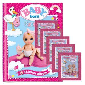 Baby Born Surprise Sticker - Sammelalbum + 5 Tüten