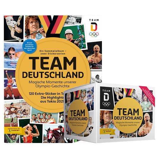 Panini Team Deutschland 2021 Sticker - 1x Sammelalbum + 1x Display