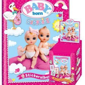 Baby Born Surprise Sticker - Sammelalbum + 1x Display