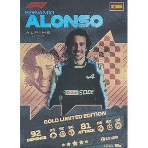 Turbo Attax 2021 LE1G Fernando Alonso