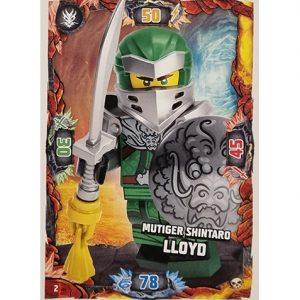 Lego Ninjago Serie 6 Trading Cards Nr 002 Mutiger Shintaro Lloyd