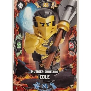 Lego Ninjago Serie 6 Trading Cards Nr 008 Mutiger Shintaro Cole