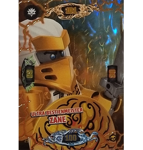 Lego Ninjago Serie 6 Trading Cards Nr 029 Ultra Bestienmeister Zane