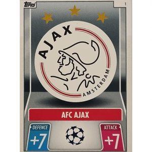 Topps Champions League 2021/2022 Nr 001 Ajax Team Badge