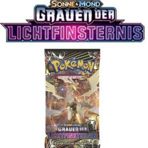 Pokemon Sonne und Mond Grauen der Lichtfinsternis 1 Booster