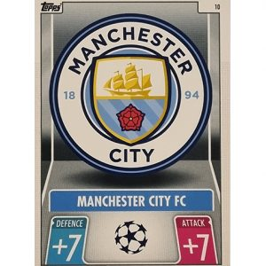 Topps Champions League 2021/2022 Nr 010 Manchester City Team Badge