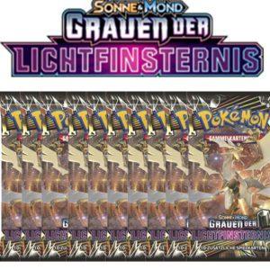 Pokemon Sonne und Mond Grauen der Lichtfinsternis 10 Booster