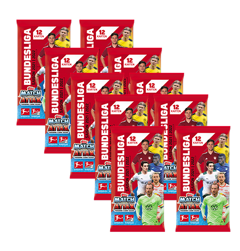 Topps Match Attax 2021/22 Bundesliga 10x Booster