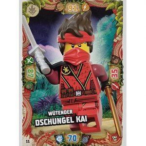 Lego Ninjago Serie 6 NEXT LEVEL Trading Cards Nr 011 Wütender Dschungel Kai