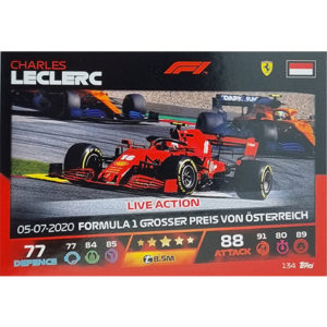 Turbo Attax 2021 Nr 134 Charles Leclerc