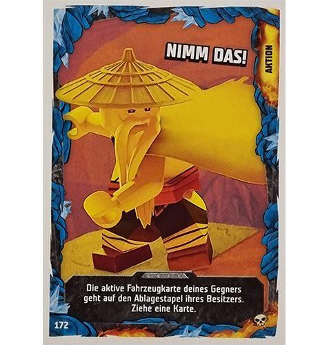 Lego Ninjago Serie 6 Trading Cards Nr 172 Nimm das