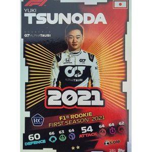 Turbo Attax 2021 Nr 181 Yuki Tsunoda