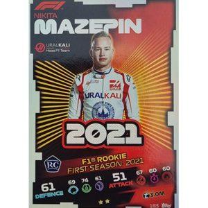 Turbo Attax 2021 Nr 183 Nikita Mazepin