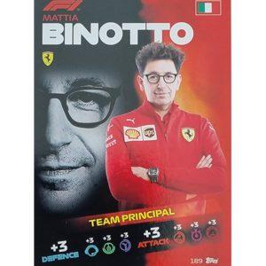 Turbo Attax 2021 Nr 189 Mattia Binotto