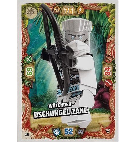 Lego Ninjago Serie 6 NEXT LEVEL Trading Cards Nr 019 Wütender Dschungel Zane
