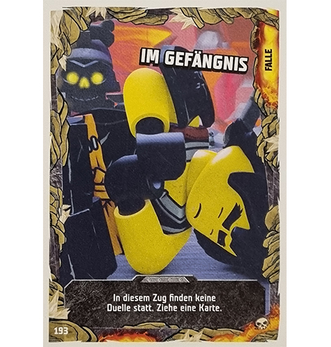 Lego Ninjago Serie 6 Trading Cards Nr 193 Im Gefängnis