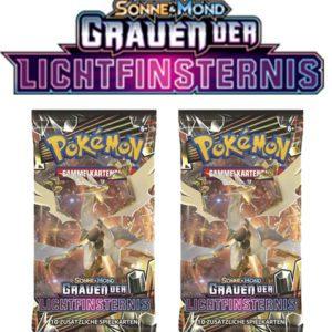 Pokemon Sonne und Mond Grauen der Lichtfinsternis 2 Booster