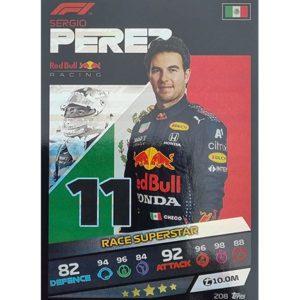 Turbo Attax 2021 Nr 208 Sergio Perez