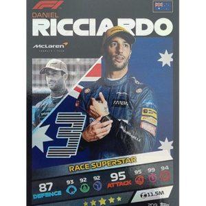 Turbo Attax 2021 Nr 209 Daniel Ricciardo
