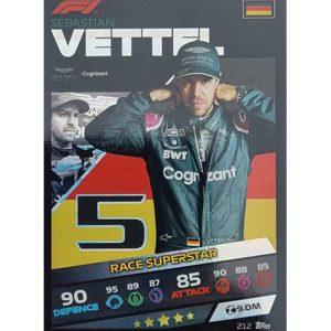 Turbo Attax 2021 Nr 212 Sebastian Vettel