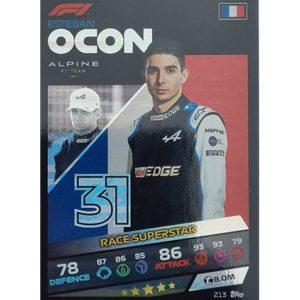 Turbo Attax 2021 Nr 213 Esteban Ocon