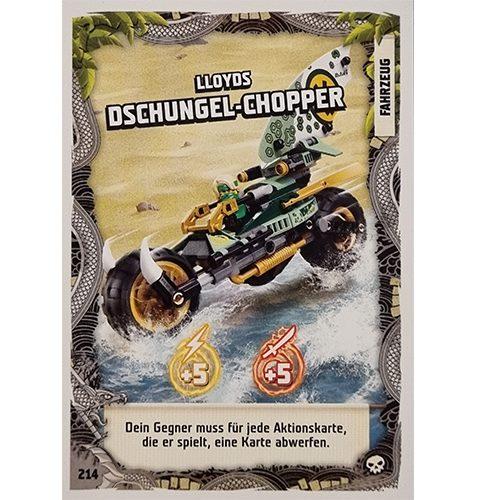 Lego Ninjago Serie 6 Trading Cards Nr 214 LLoyds Dschungel Chopper