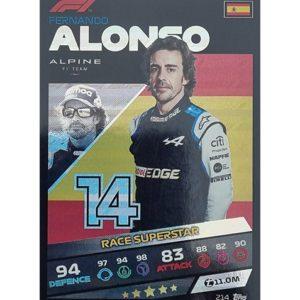 Turbo Attax 2021 Nr 214 Fernando Alonso