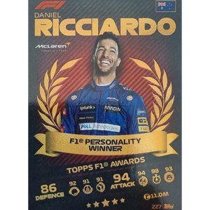 Turbo Attax 2021 Nr 227 Daniel Ricciardo