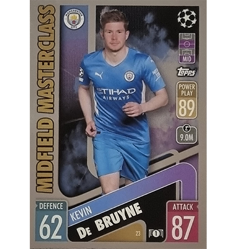 Topps Champions League 2021/2022 Nr 023 Kevin De Bruyne
