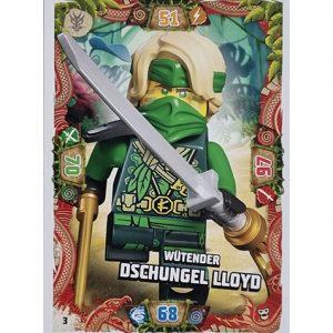 Lego Ninjago Serie 6 NEXT LEVEL Trading Cards Nr 003 Wütender Dschungel Lloyd