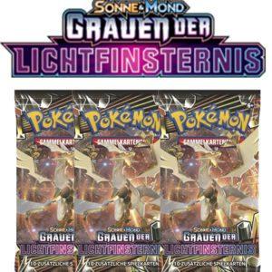 Pokemon Sonne und Mond Grauen der Lichtfinsternis 3 Booster