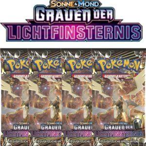 Pokemon Sonne und Mond Grauen der Lichtfinsternis 4 Booster