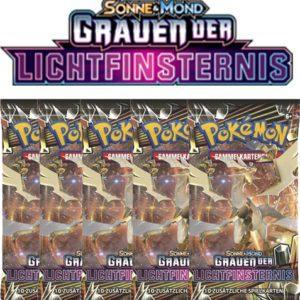 Pokemon Sonne und Mond Grauen der Lichtfinsternis 5 Booster