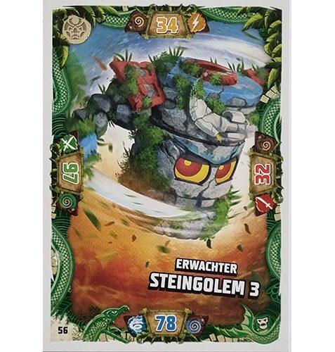 Lego Ninjago Serie 6 NEXT LEVEL Trading Cards Nr 056 Erwachter Steingolem 3