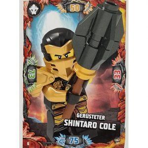 Lego Ninjago Serie 6 NEXT LEVEL Trading Cards Nr 006 Gerüsteter Shintaro Cole