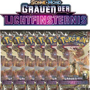 Pokemon Sonne und Mond Grauen der Lichtfinsternis 6 Booster