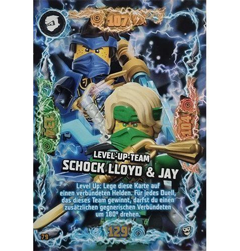 Lego Ninjago Serie 6 NEXT LEVEL Trading Cards Nr 079 Level Up Team Schock Lloyd und Jay