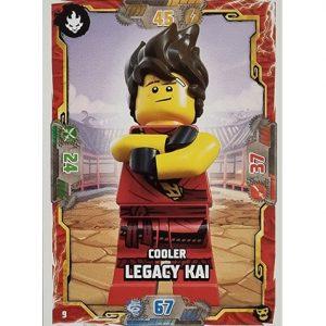 Lego Ninjago Serie 6 NEXT LEVEL Trading Cards Nr 009 Cooler Legacy Kai