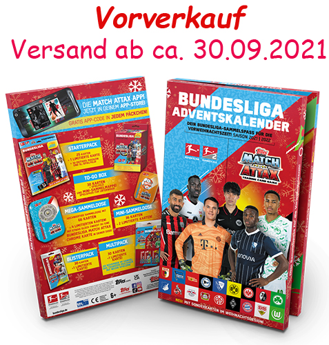 Topps Match Attax Bundesliga 2021/22 Adventskalender