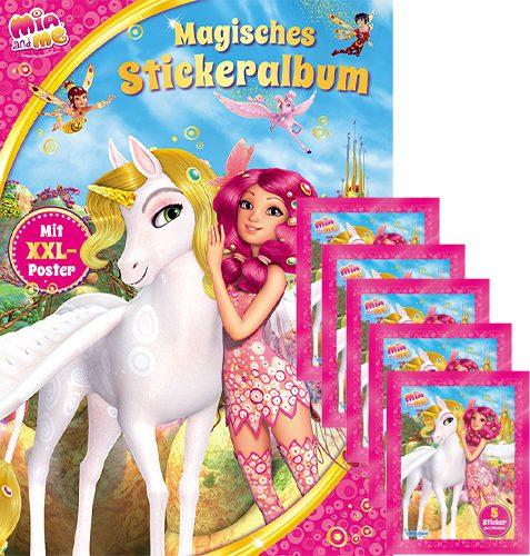 Mia and Me Sticker Album und 5x Stickertüten