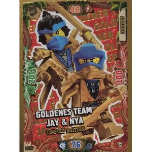 Lego Ninjago Serie 6 NEXT LEVEL Trading Cards LE 17 Goldenes Team Jay & Nya