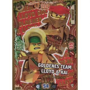 Lego Ninjago Serie 6 NEXT LEVEL Trading Cards LE 18 Goldenes Team LLoyd & Kai