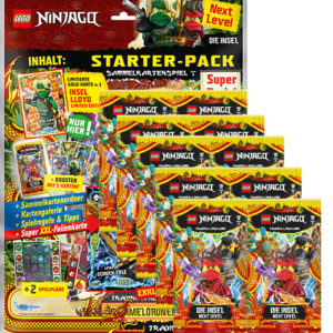 Lego Ninjago Serie 6 NEXT LEVEL Trading Cards Starterpack + 10x Booster