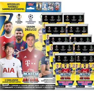 Topps Champions League 2021/2022 Starterpack + 10 Booster