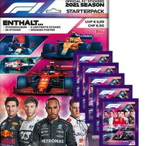 Topps Formula 1 Sticker 2021 Starterpack und 5 Tüten
