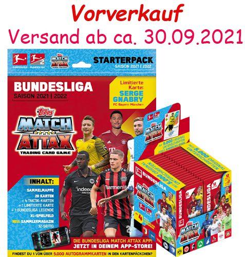 Topps Match Attax Bundesliga 2021/22 Starter Pack und Display