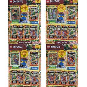 Lego Ninjago Serie 6 NEXT LEVEL Trading Cards alle 4 Multipacks